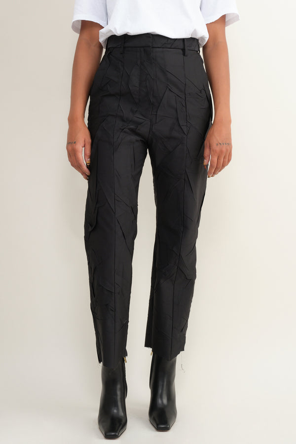 crushed taffesta trouser MM6 Maison Margiela