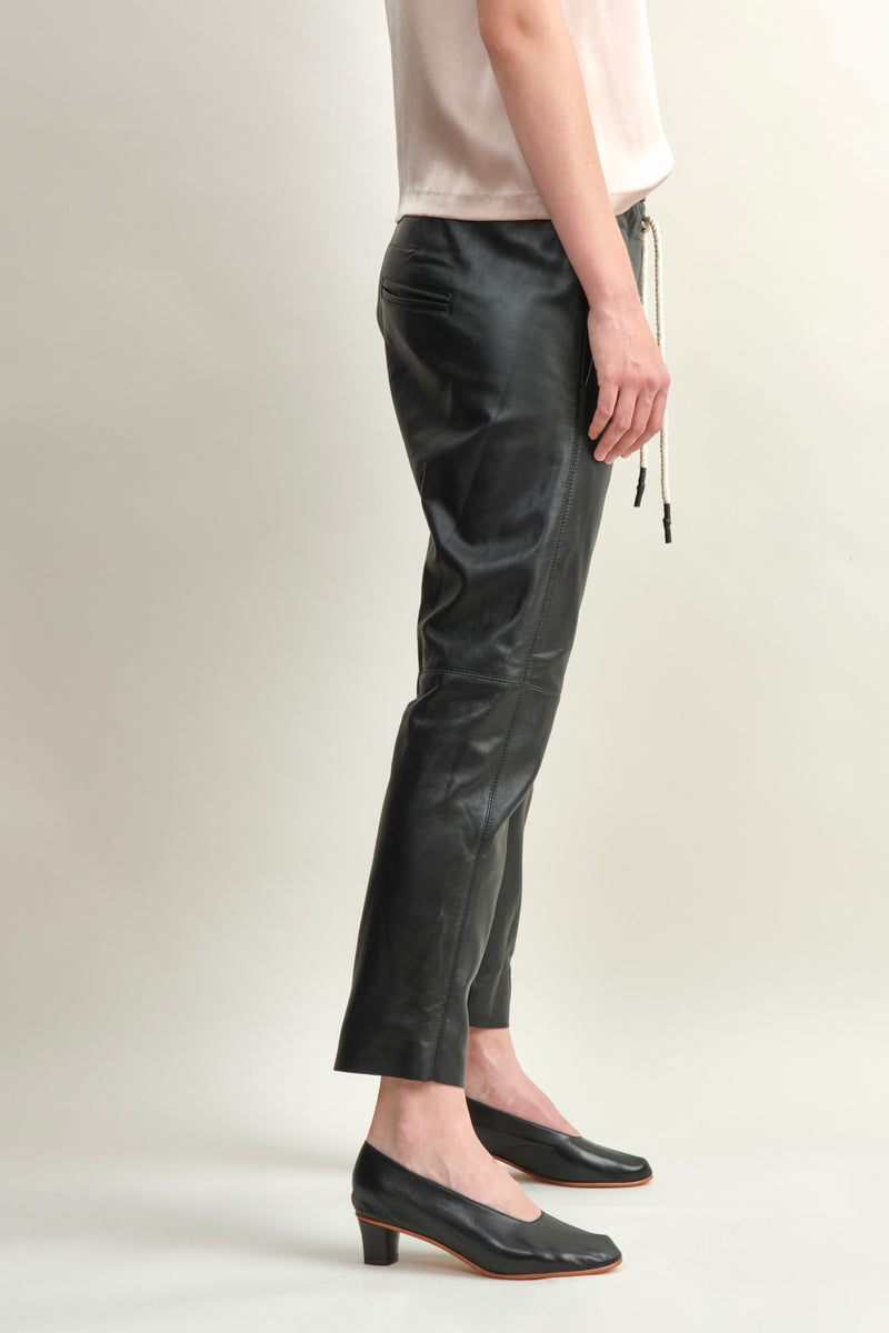 Relaxed Fit Leather Pant