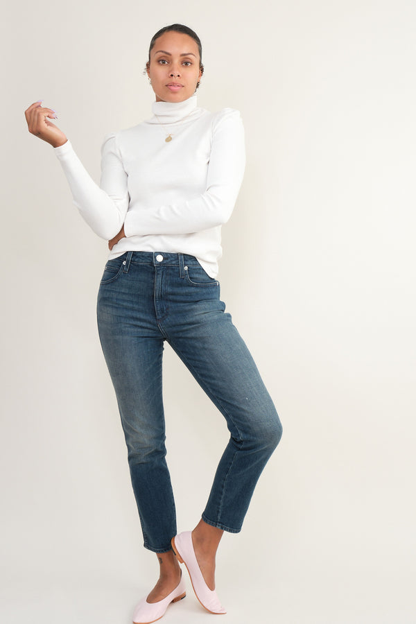amo denim high rise stix crop