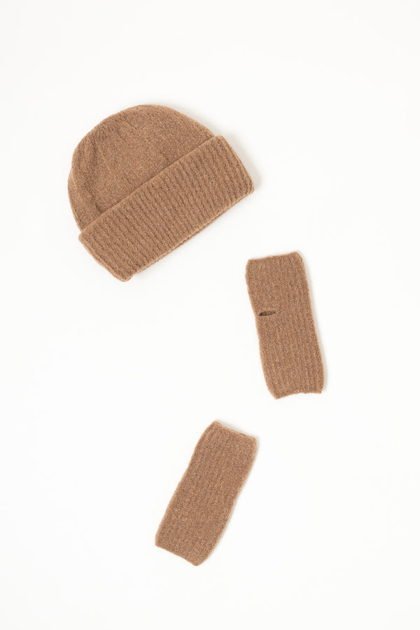 Grei Mousse Double-Sided Beanie