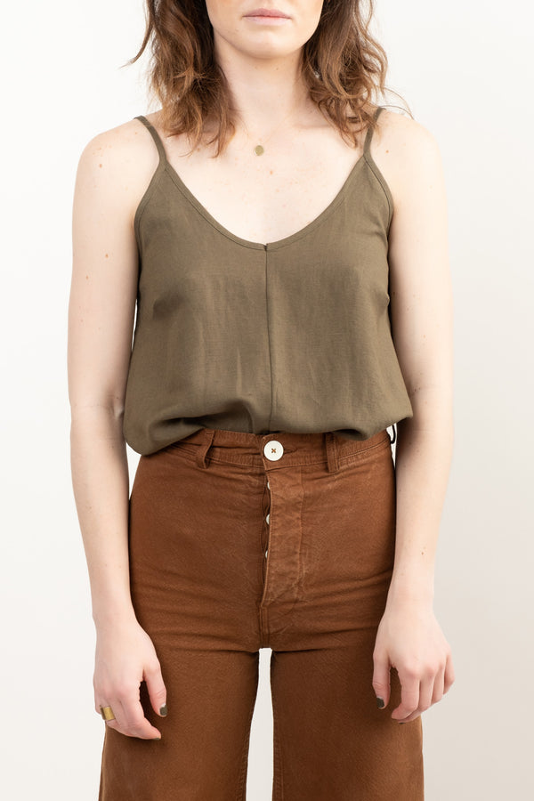 Women's Olive Green Camisole