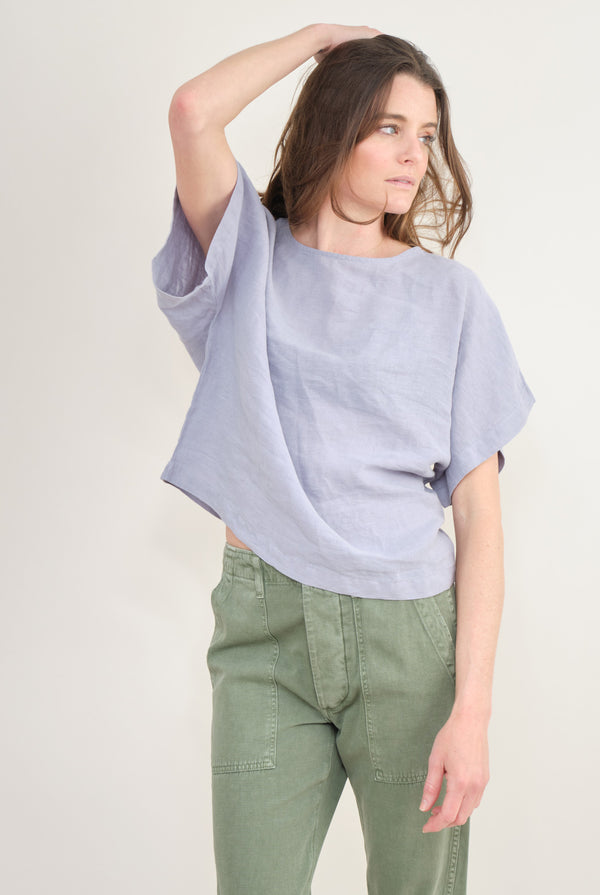 Black Crane Box Top In Lavender