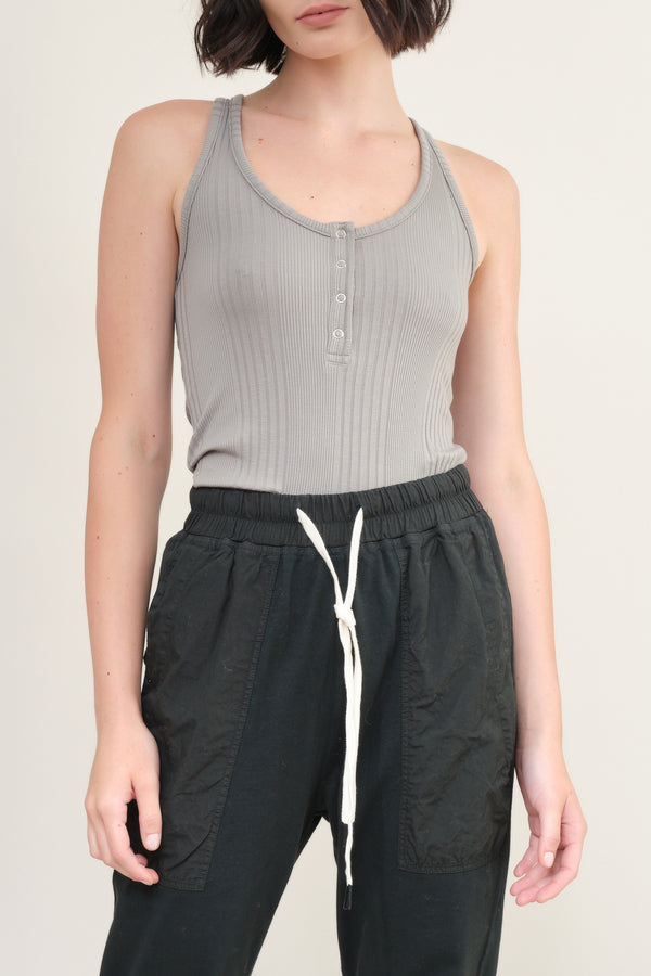 nsf clothing zara front snap tank