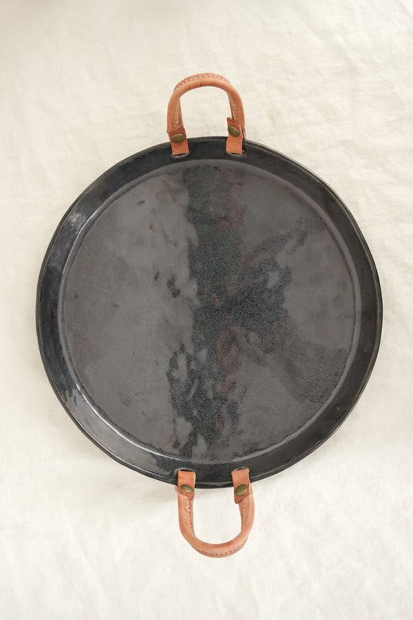 dbO Home leather handled tray