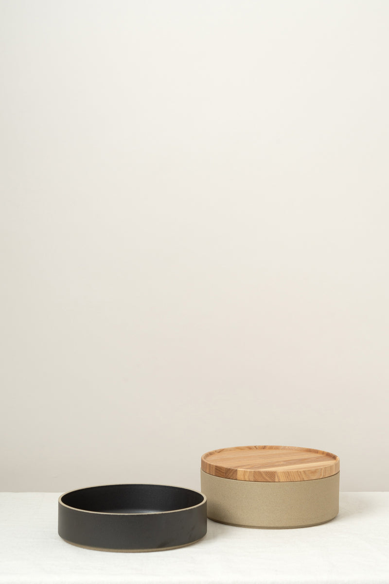 Hasami Porcelain Bowl Stack w/Ash Wood Lid