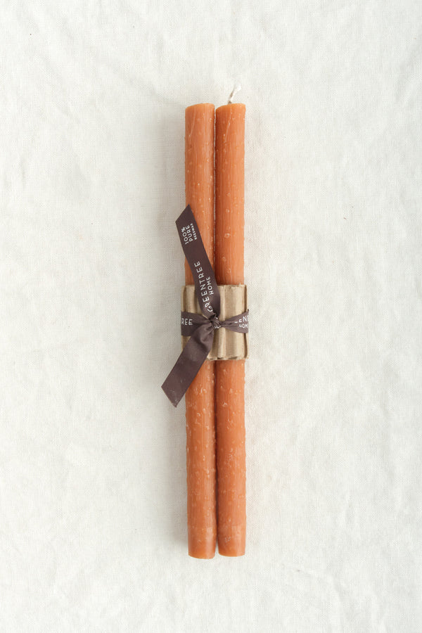 Greentree Home Twig Taper Candles Terracotta