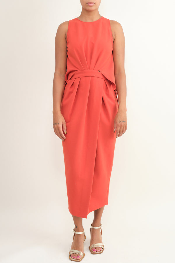 klein dress in red Rachel Comey