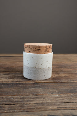 Humble Ceramics 3.5 X 3 Corked Canister In Greystone