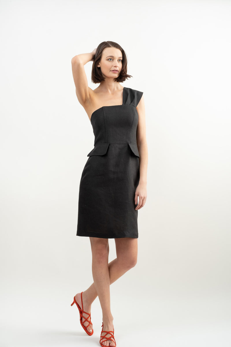 No. 6 Clothing Delphine One Shoudler Dress