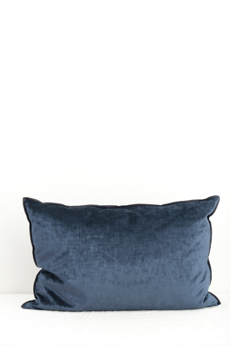 Maison de Vacances Royal Velvet Vice Versa Cushion In Bleu Nuit