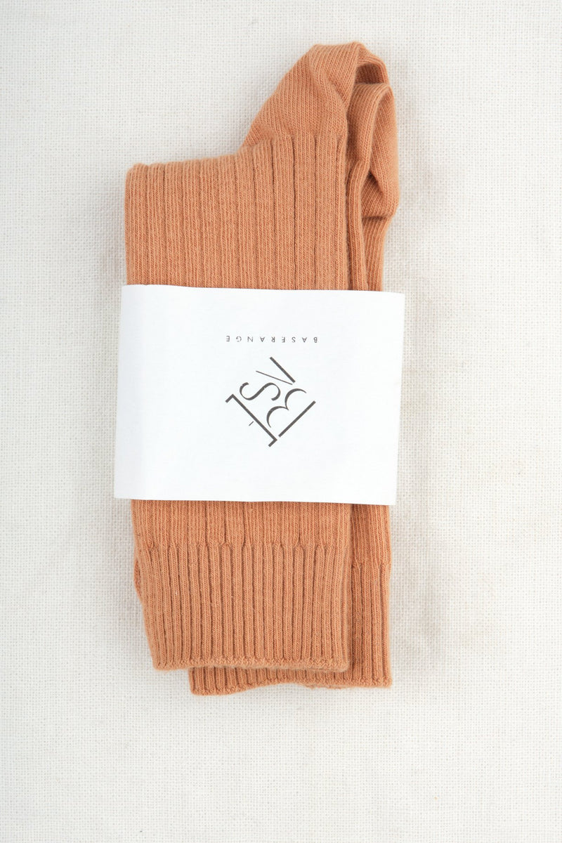 Baserange Rib Ankle Socks Furano Brown