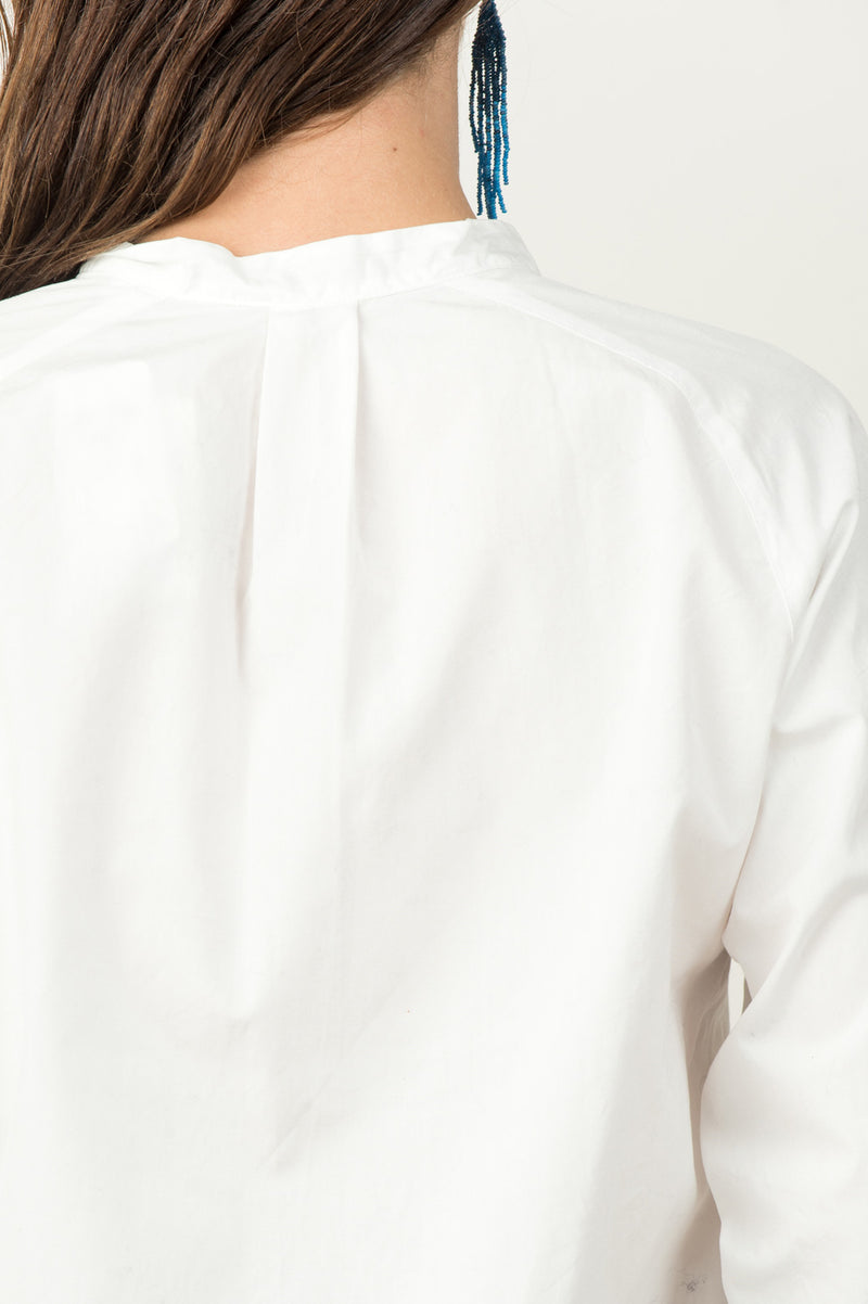Women's Band Collar Shirt