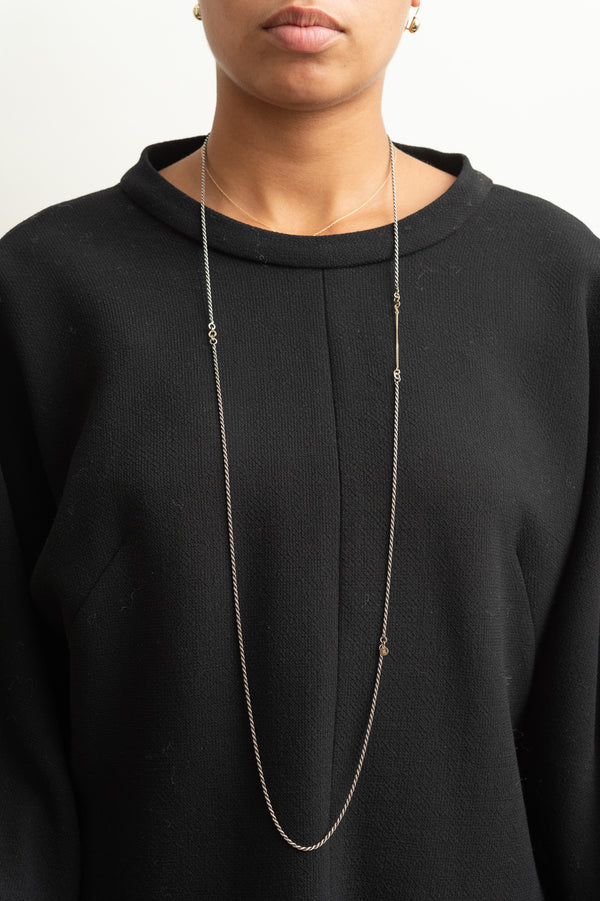 Blanca Monros Gomez Two Tone Long Necklace