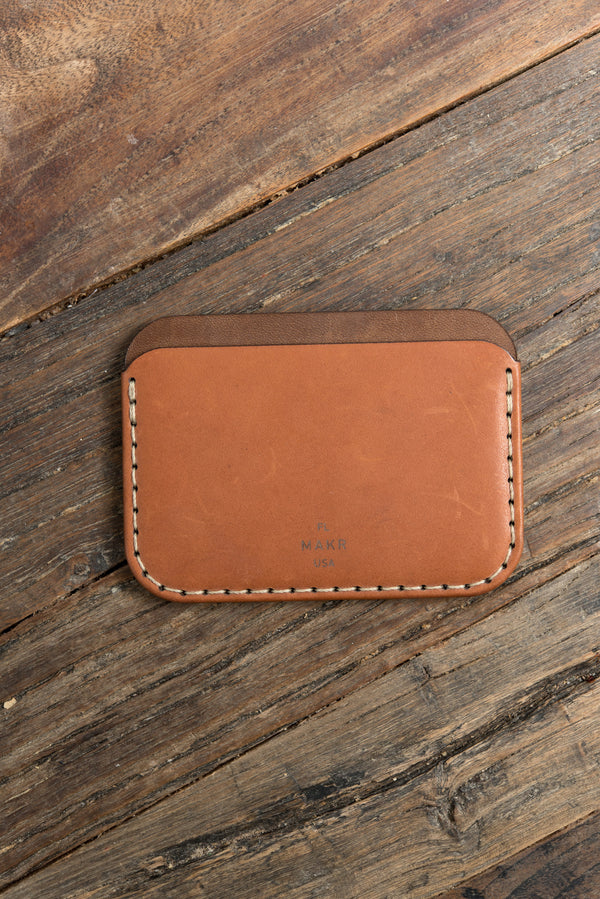 MAKR Round Wallet In Saddle Tan