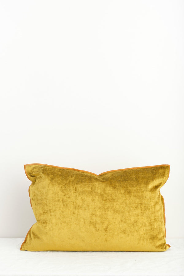 Maison de Vacances Royal Velvet Vice Versa Cushion In Ocre