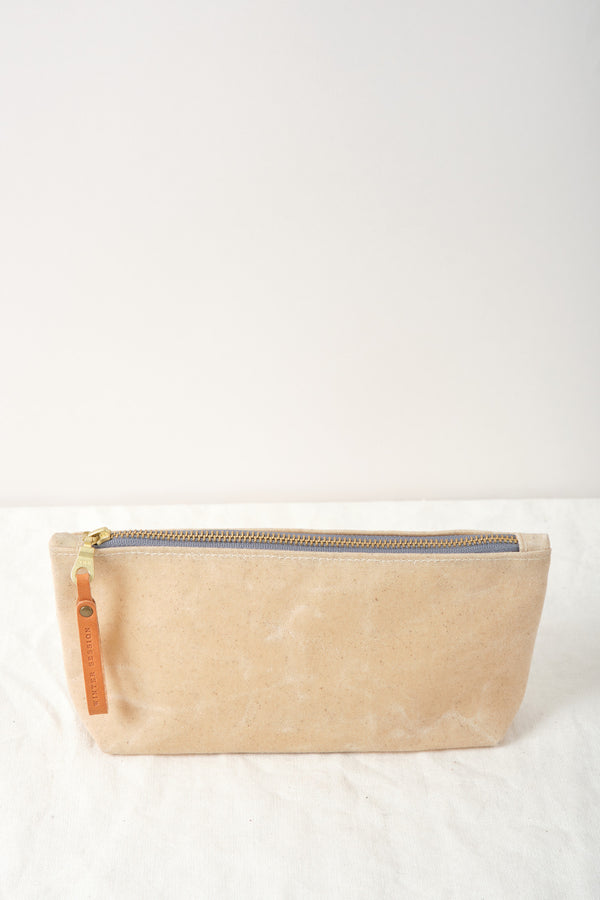 Winter Session Waxed Canvas Zip Bag Sand