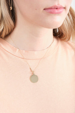 Loren Stewart Disk & Toggle Necklace