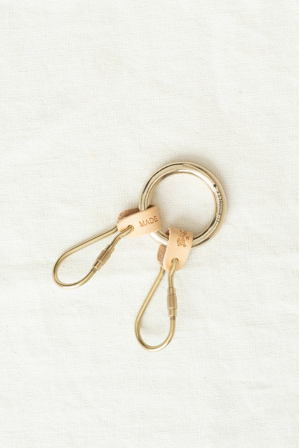 Il Bisonte Double Key Ring Naturale