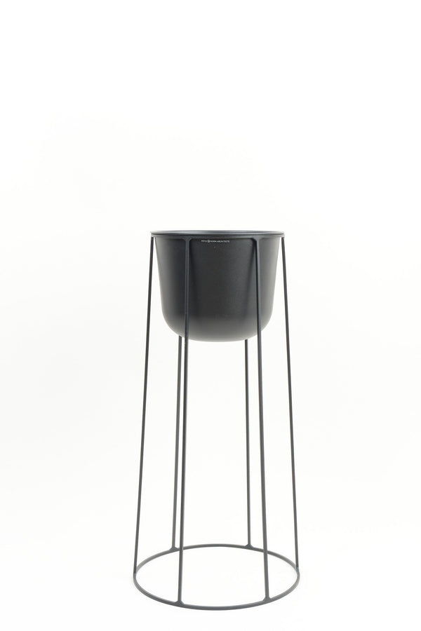 Menu Large Wire Pot & Base Black