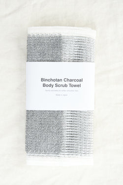 bonchotan charcoal Body Scrub Towel