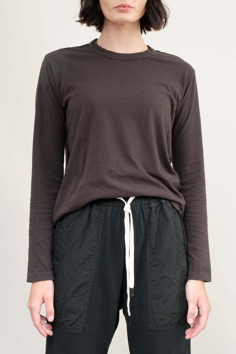 bassike long sleeve slouch contrast tee