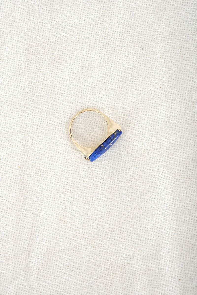 Loren Stewart Wide Eye Ring Lapis