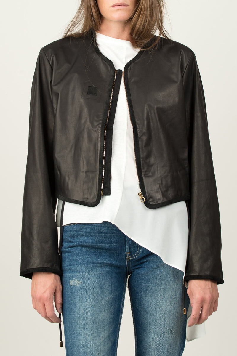 Women's Fitted Leather Jacket