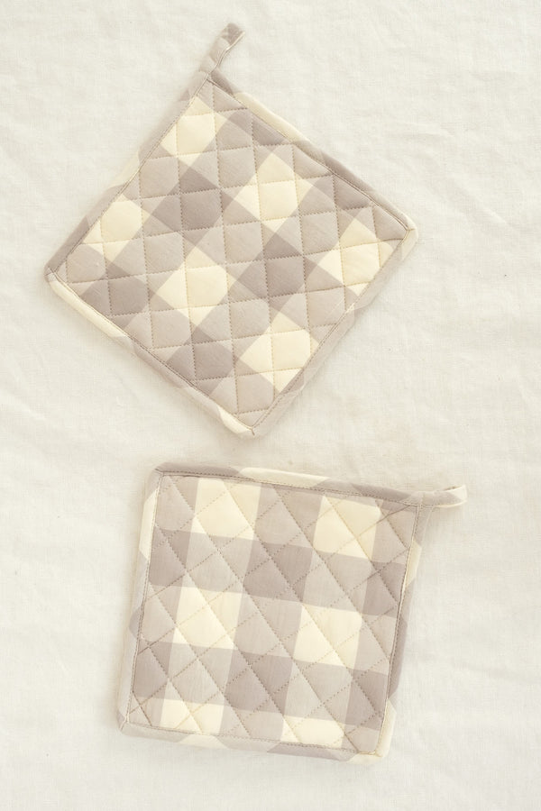 Farmhouse Pottery gingham potholders
