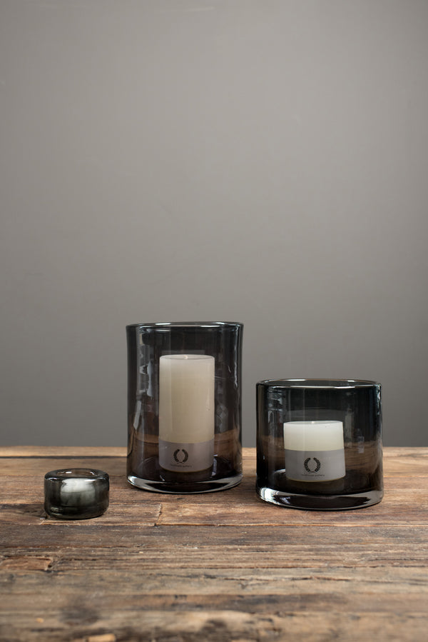 Farmhouse Pottery Glass Candle Holders