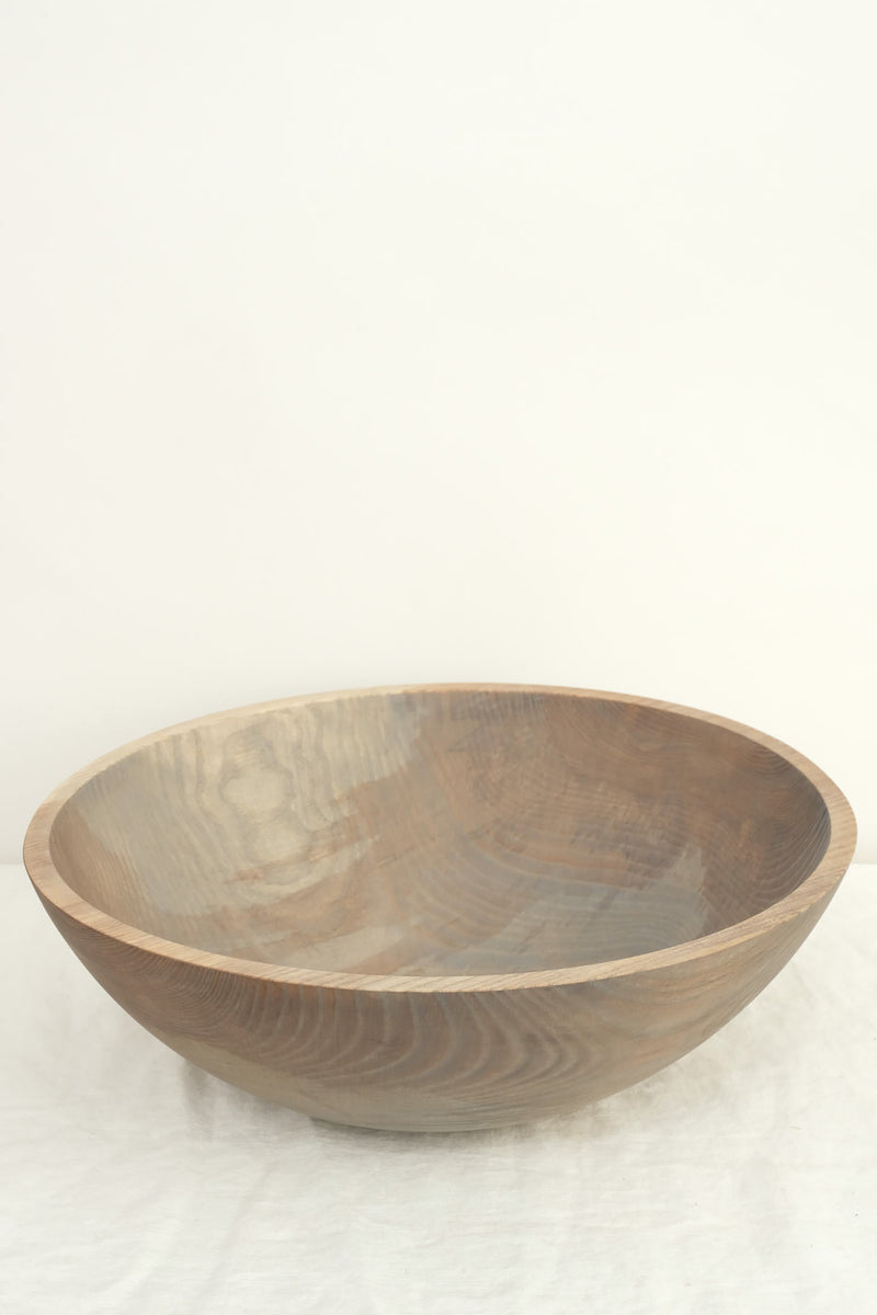 "Farmhouse Pottery 17"" wooden bowls"