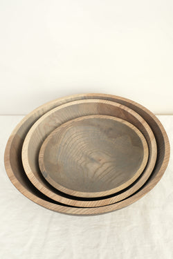 Farmhouse Pottery craft wooden bowls