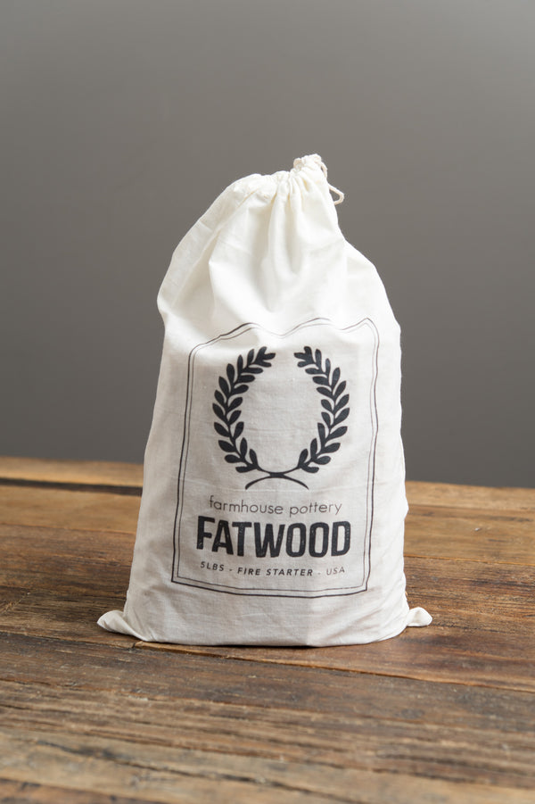 fatwood bag farmhouse pottery