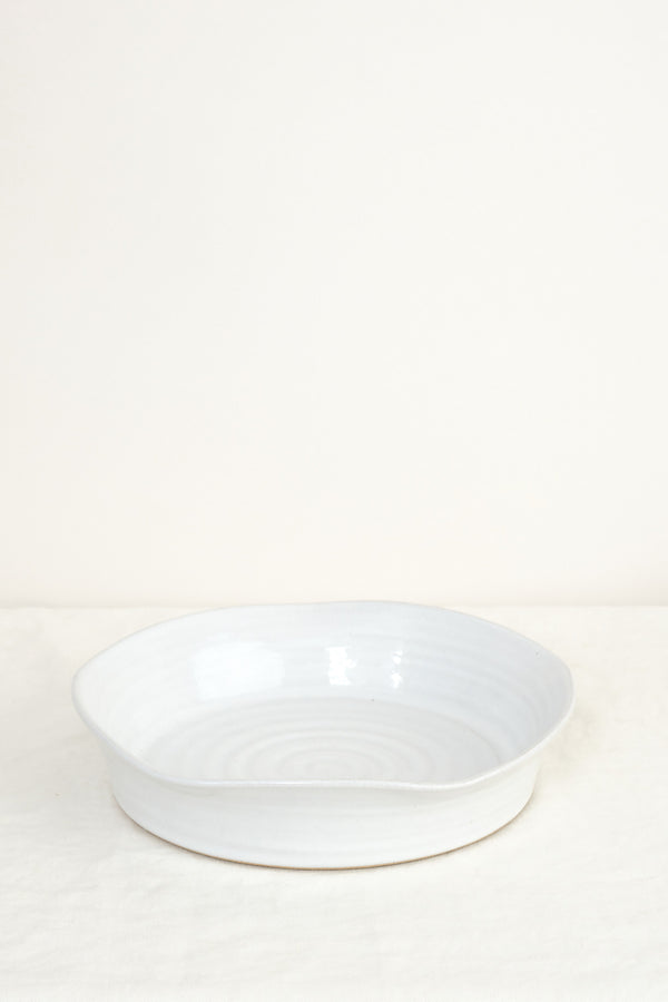 Pie dish stoneware Farmhouse Pottery