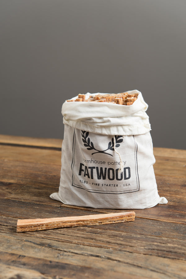 farmhouse pottery fatwood bag