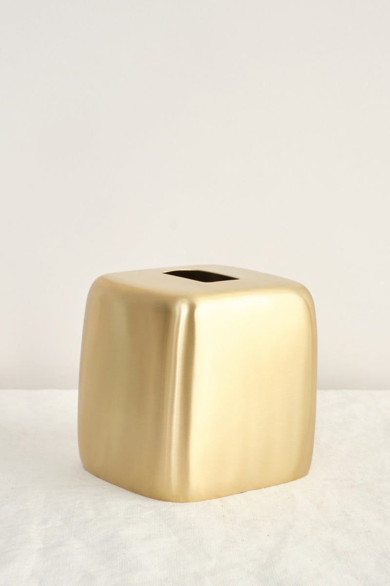 Tina Frey Designs Brushed Brass Tissue Box
