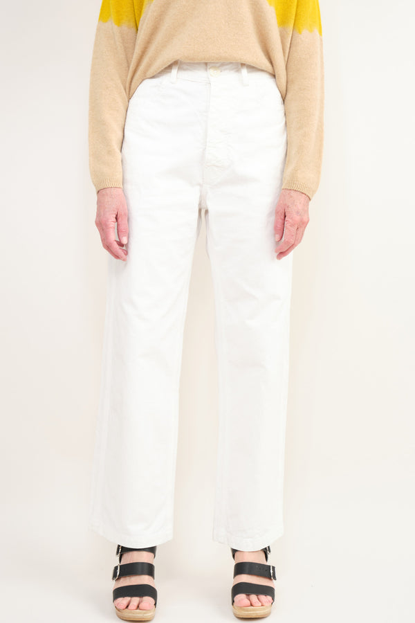 Jesse Kamm Handy Pant In Salt White