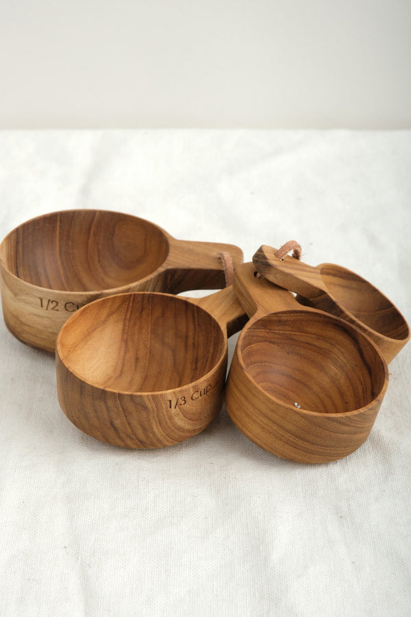Be Home Measuring Cups w/Handle Teak