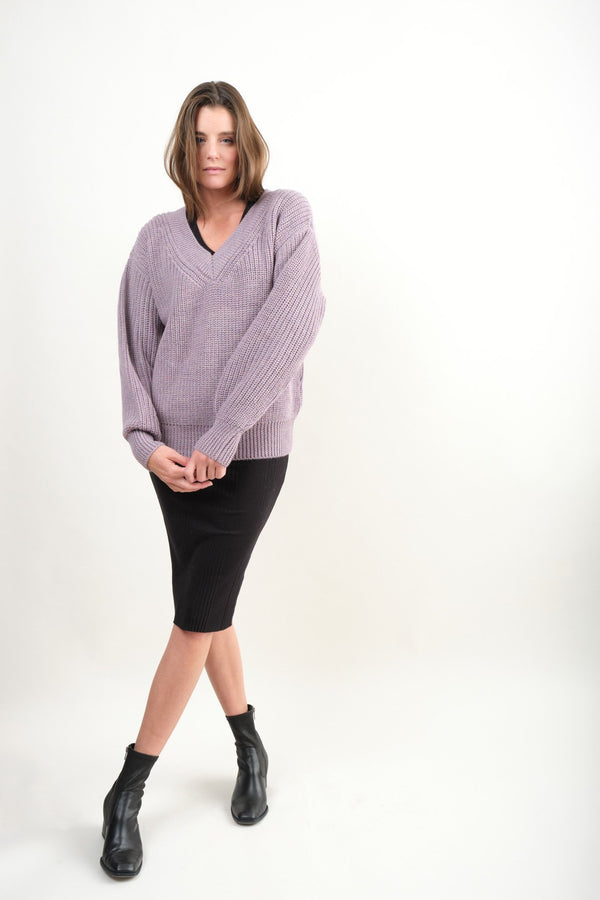 Mara Hoffman Revel Sweater In Lavender
