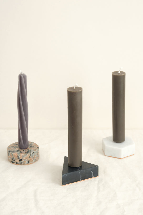 Fort Standard stone candle holders