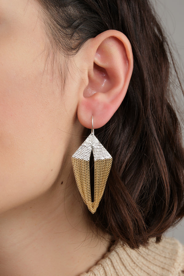 HannahK ballet earrings in brass