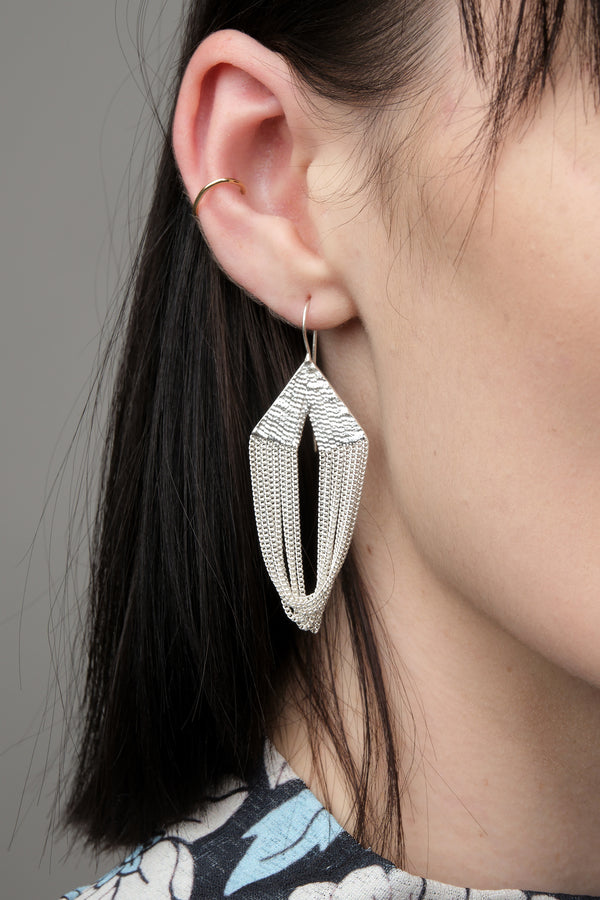 HannahK ballet earrings in silver