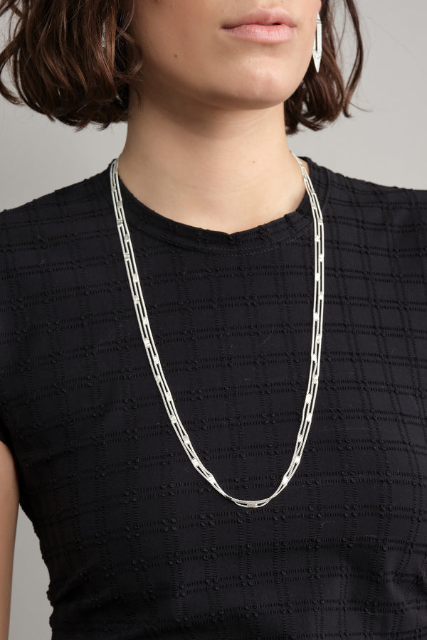 HannahK silver mesh necklace