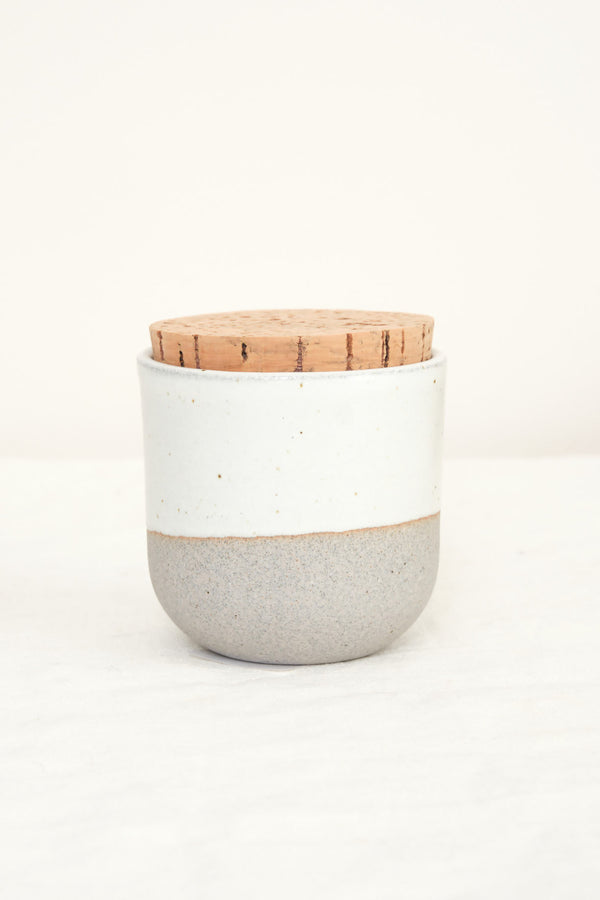 alder corked canister in greystone