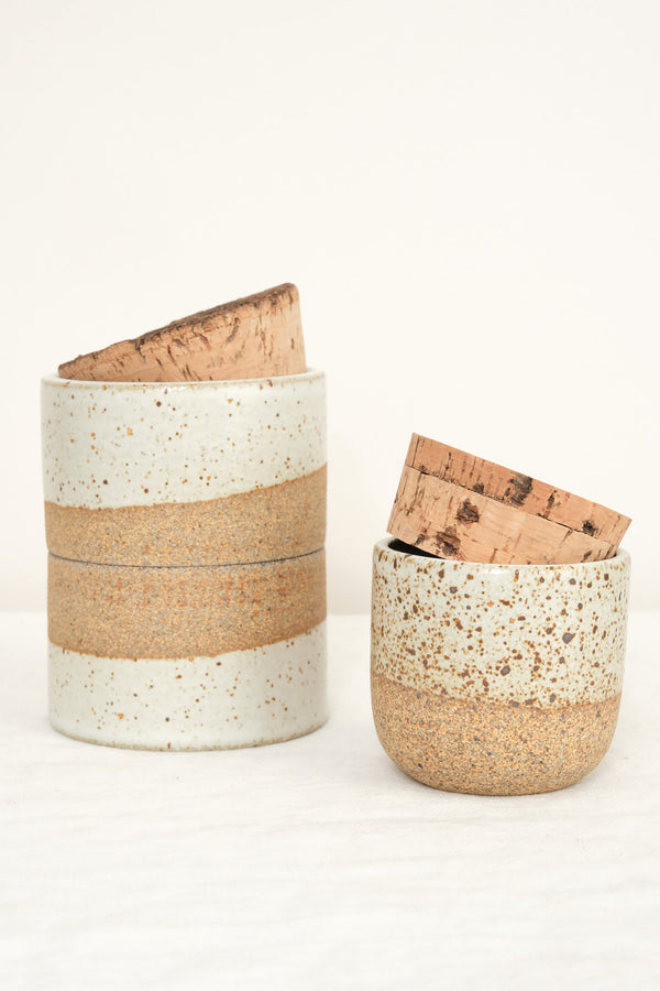 Humble Ceramics Corked Canister