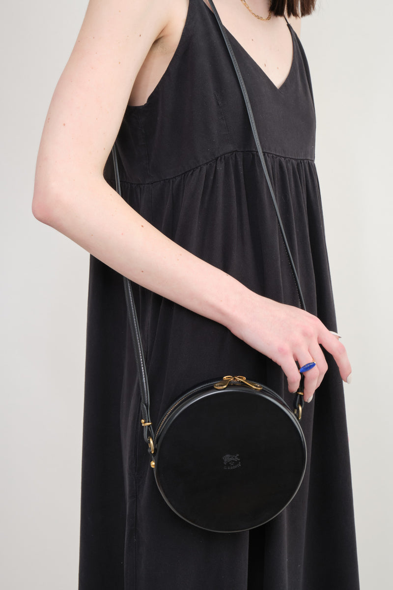 Il Bisonte Circle Crossbody Bag Italian Leather