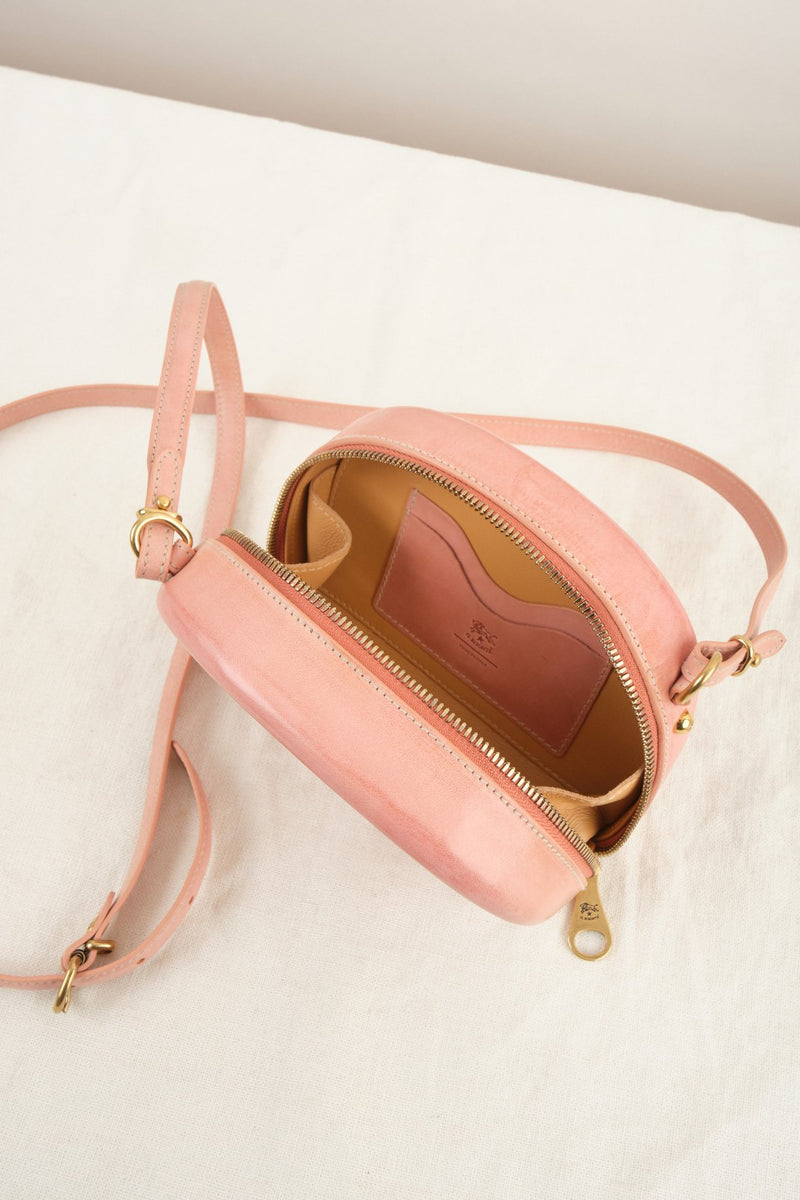 Il Bisonte Hard Sided Crossbody Bag Rosa Leather