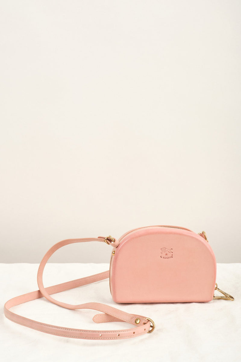 Il Bisonte Hard Sided Crossbody Bag Pink Leather