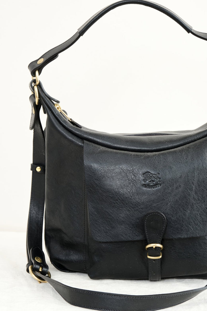 Il Bisonte Small Scaven Bag Vintage Nero