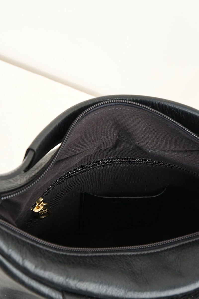 Il Bisonte Small Scaven Bag Black Leather