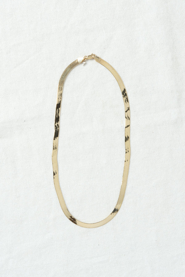 jersey herringbone chain necklace